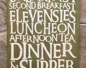Hobbit Food Schedule