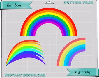 Rainbow svg png, svg png files for Cricut Silhouette svg cut files svg png Cricut cut file