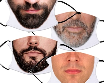 MEN'S Face Mask with 2 Filters optional. Nose Wire included.  Adult & Child Face Mask - Designed and finished in USA