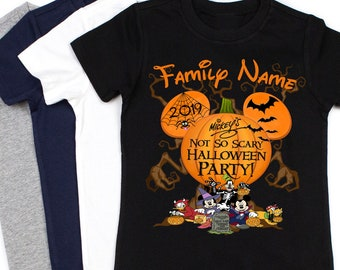 Disney Halloween Shirt Ideas.Mickeys Not So Scary Etsy
