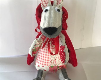 The Wolf who was the little Red Riding Hood plush