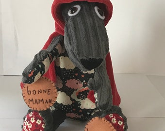 Plush Wolf who was the little Red Riding Hood