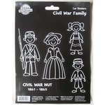 Civil War Nut Family Car Decals