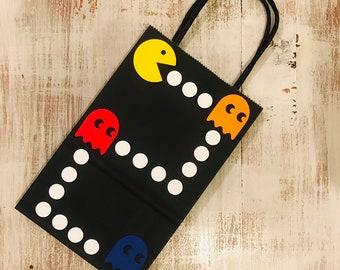 Pac Man Favor Bag Party Goodie Birthday Decorations Retro 80s Arcade Ms