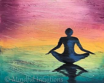 Original Acrylic Painting, Mixed Media Art, Wall Art, Meditation, Peaceful Art, Inspirational Art, Home Decor, Motivational Art, Meditation
