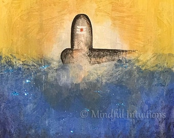 Original Abstract Painting, Home Decor, Wall Art, Soulful Art, Abstract Art, Modern Art, Inspirational Art, Shiv Ling Painting, Meditation