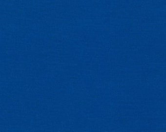 100/% Cotton Fabric Dutch Blue Solid By The Yard