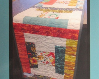 Boxed In Table Runner Pattern by Tricia Lynn Maloney/Orphan Quilt Designs for Villa Rosa Designs