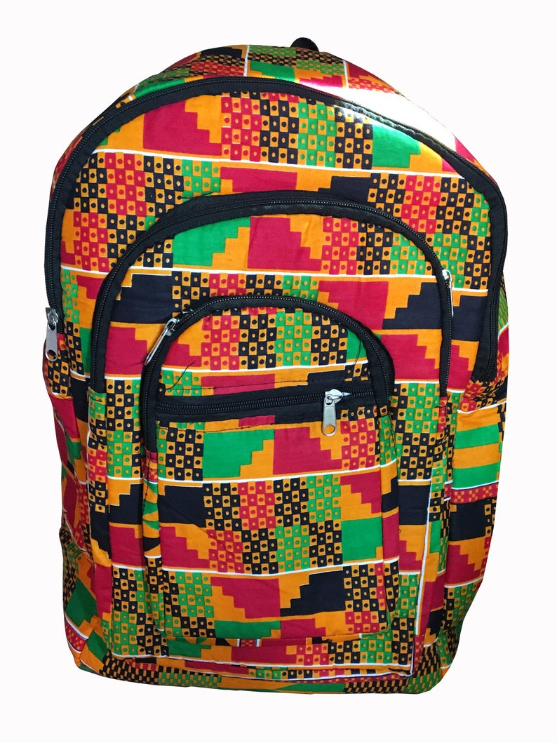 Ankara African Print Backpack Book Bag Handmade Rucksack School Bag College African fabric Backpack