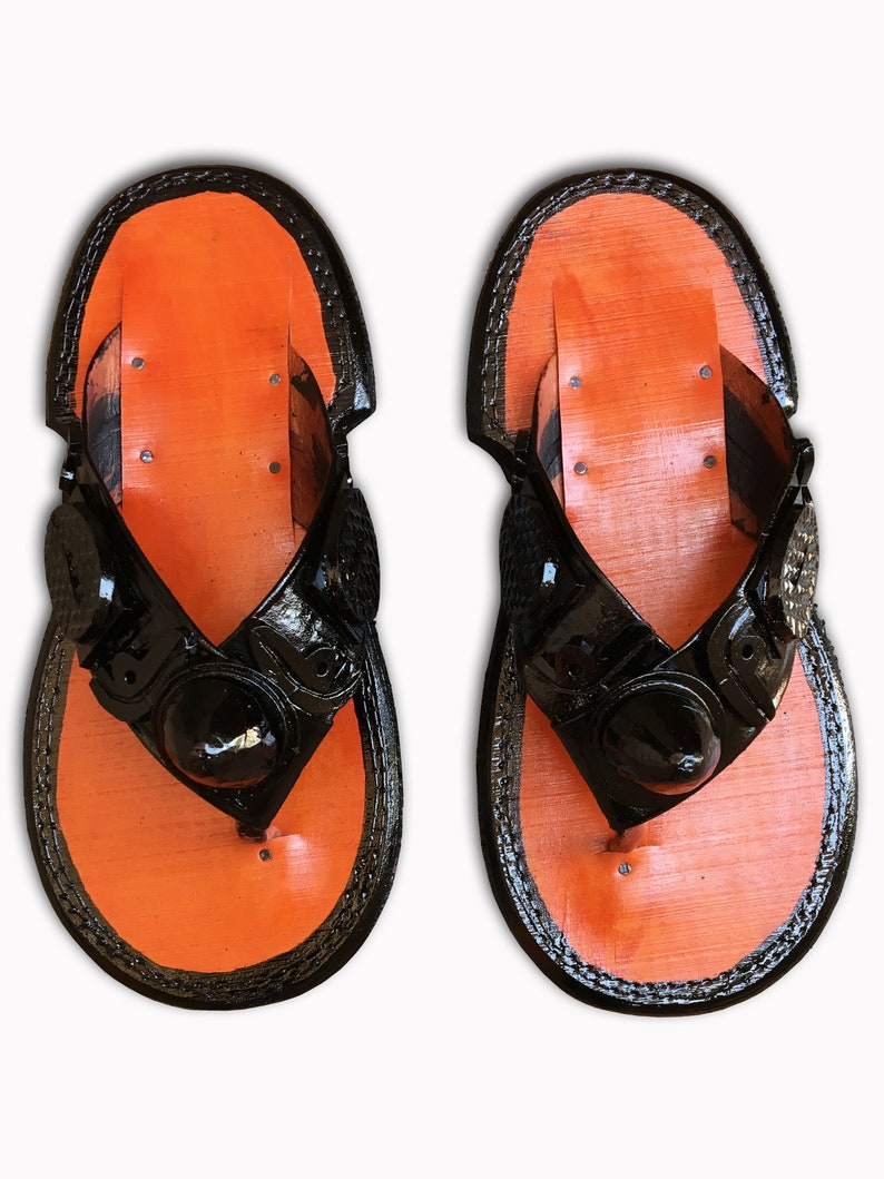 ea8c99674 Men s Traditional Slippers Ghanaian Handmade Ahenema