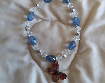 Swarovski Crystal bracelet with Butterfly Charm