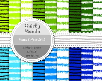 Pencil Stripes Set Two