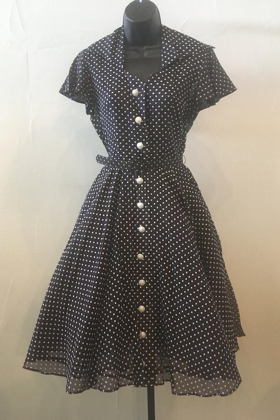 Vintage 1940/50's Sheer Organza Polka dot dress
