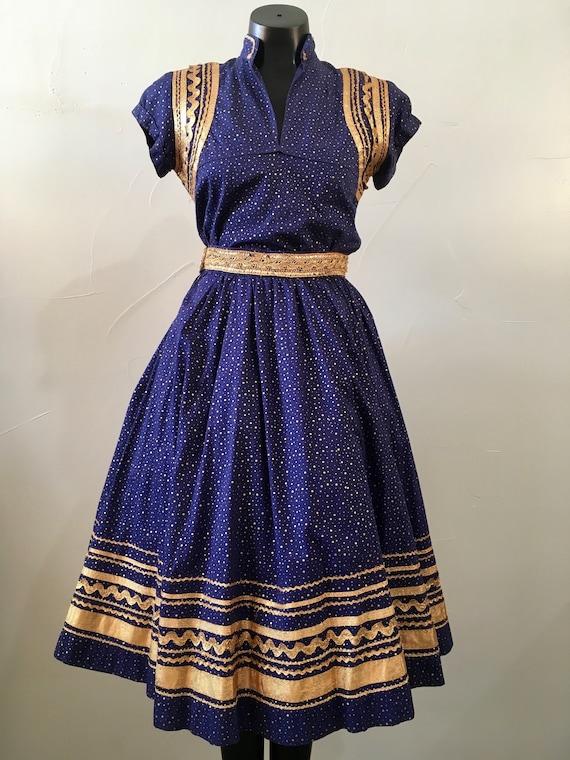 VIVA LA FIESTA! Vintage Women's Fiesta/Patio Dress