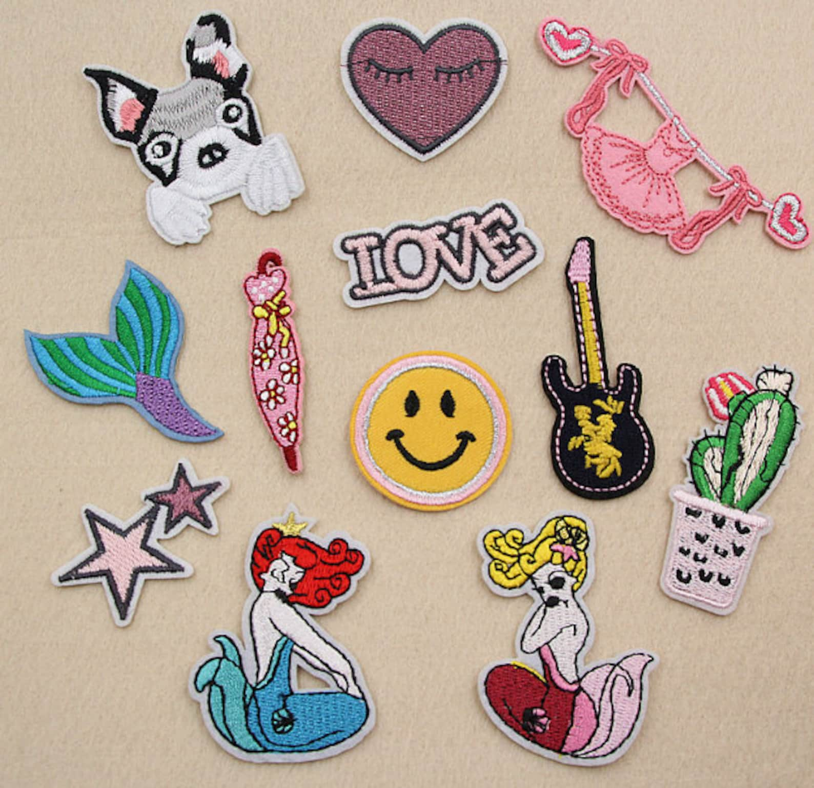 1pcs 9.5x3.5cm embroidery pink ballet dress iron on patch embroidered patches applique sewing supply