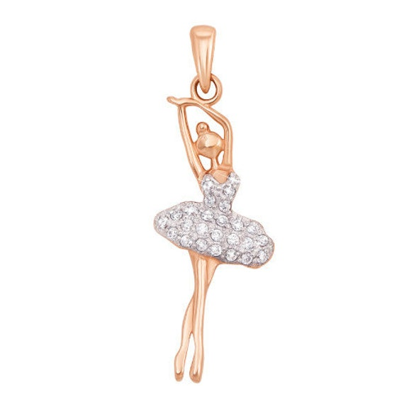Ballerina  Sign 14k Solid Gold Pendant perfect gift for anyone Dance /& Ballet  Tehrani Jewelry