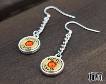 Bullet Jewelry Earrings - Hunting Jewelry - Ammo Jewelry - 6,5x55 Norma