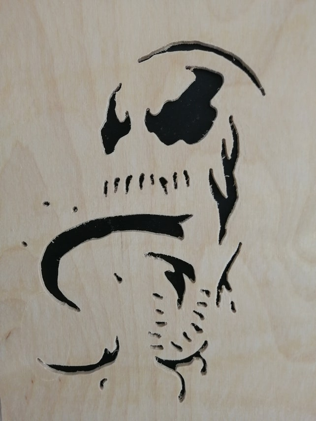 Venom Marvel Spiderman Tom Hardy Stencil Wall Hanging Etsy