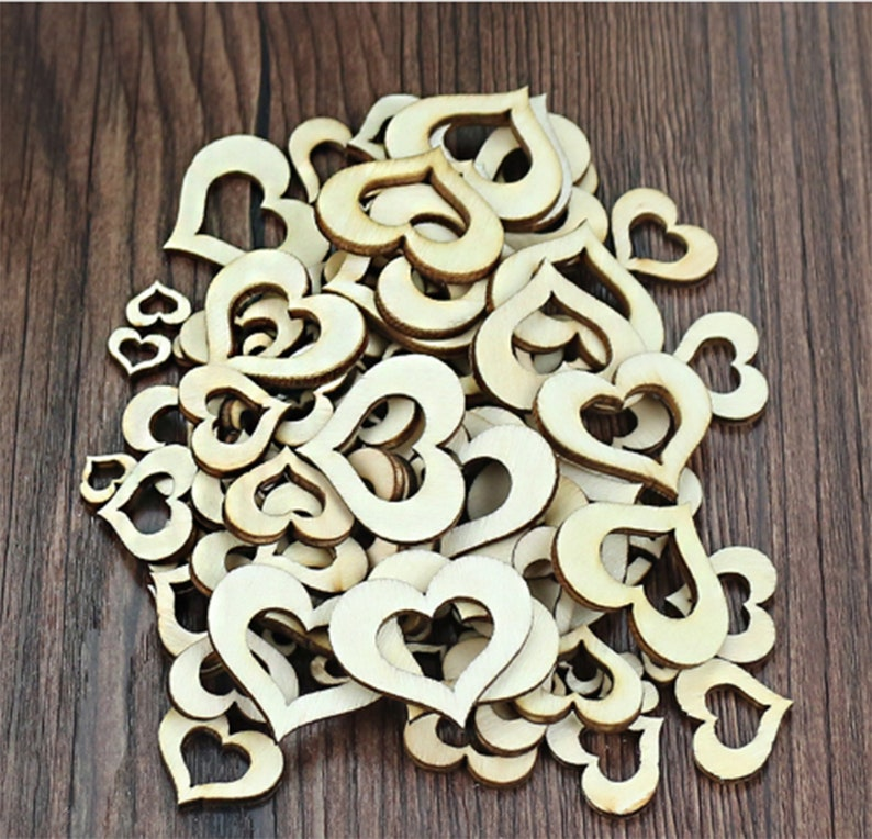 100pcs Wooden Slices Star 30mm Painting DIY Crafts Ornament Wood Piece for Party