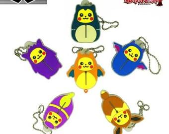 Pokemon Ichiban Kuji Rubber Strap Nebukuro Sleeping Bag Pikachu Charizard Zubat Ekans Snorlax Eevee Gengar