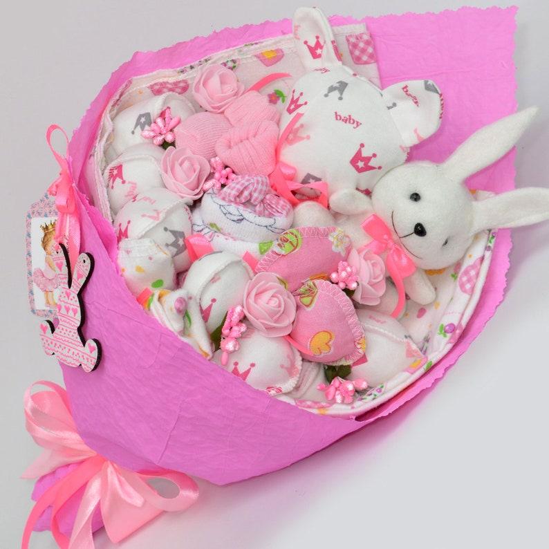 Baby shower gift  Newborn gift  baby girl gift  Baby shower girl gift  Diaper Cake  new mom gift basket  babbie gift  gift basket