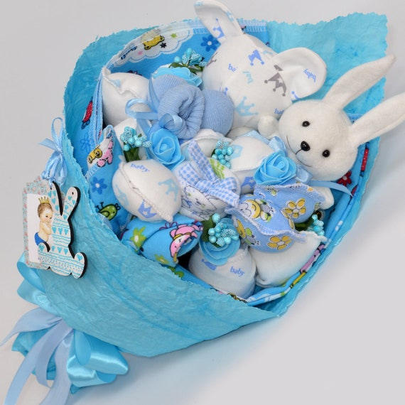 Baby Shower Gift New Baby. Baby Blue Baby Gift Basket Gift for Baby