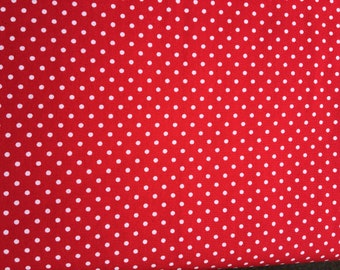Polka Dot Fabric - Rose & Hubble - Bright Red