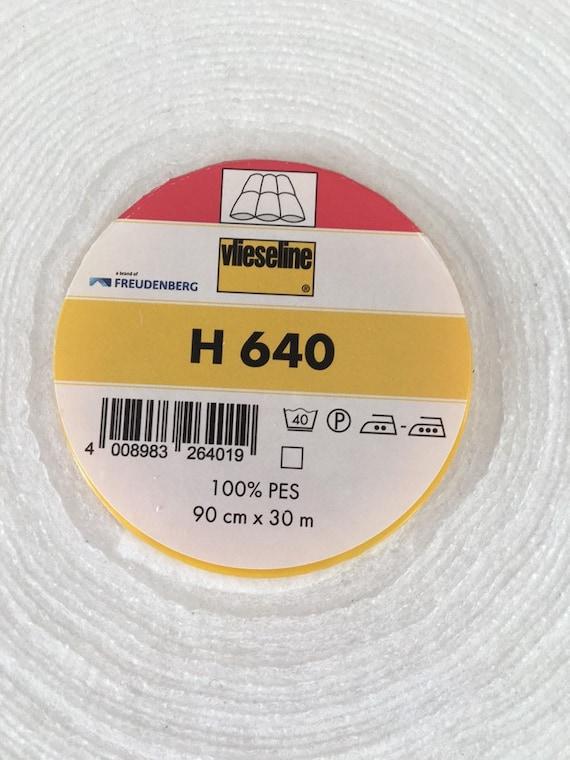 Per Metre Vlieseline // Vilene Iron-on Pelmet Interfacing S520 30cm White