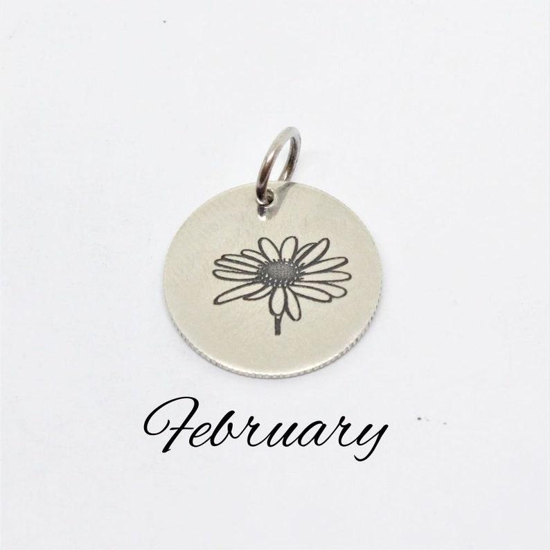February\u2019s Australian Native Birth Flower \u2013 Brachyscome Magenta Bliss Pendant  Charm
