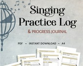 image relating to Printable Music Practice Log titled Goods identical in the direction of Singing Train New music Coach Magazine