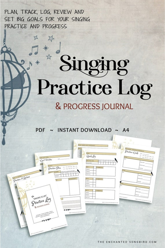 Singing Practice Music Journal For Singers