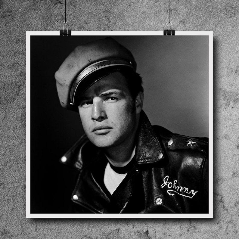 Marlon Brando Poster The Godfather The Wild One Last Tango in Paris Black and White Art Iconic Actor Art Print Wall Art FREE SHIPPING