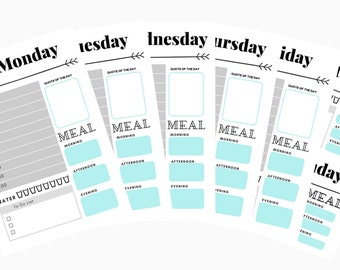 Daily A5 planner printable