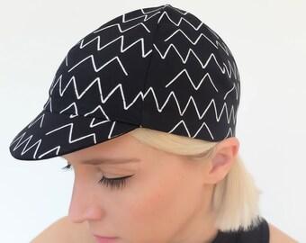 Cycling cap - zig zag