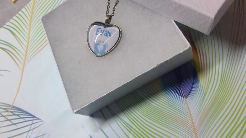 Mommy Necklace-Personalize Baby Boy Name Necklace
