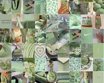 Green Collage Kit Etsy