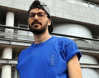 "T Shirt ""Skater Boy"" electric blue"