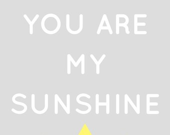 You Are My Sunshine Wall Art Set Of 5