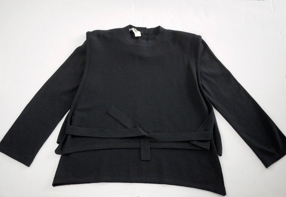 classic Sonia RYKIEL PARIS wool tabard pullover