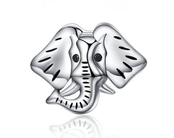 fd8c46609 925 Sterling Silver Elephant Charm Fits Pandora Bracelet Pendant