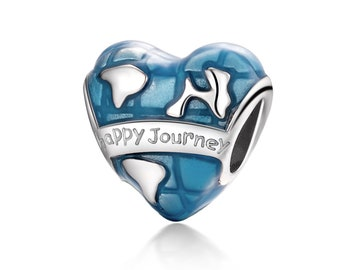 895ea7837 925 Sterling Silver Happy Journey Charm Bead Fits Pandora Bracelet Pendant