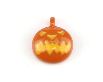 10pcs Halloween Pumpkin Beads Enamel Charms Pendant Diy Jewelry Findings Home & Garden