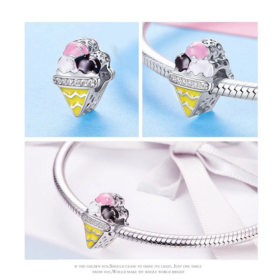 Rosmarinus Sterling Silver Mickey Mouse Charms Beads for DIY Bracelet Jewelry