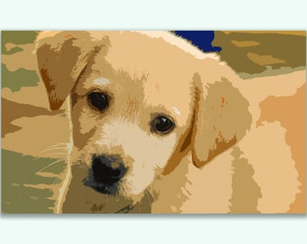 Golden Retriever Puppy Giclee print on Canvas - Ready to Hang