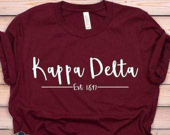 424edb433 Kappa Delta Established Unisex Tee Sorority Shirts Sorority Tees