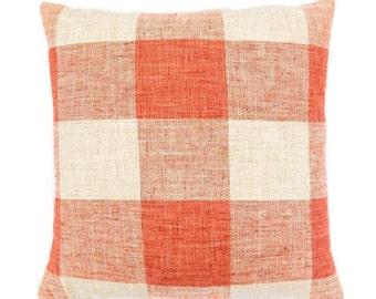 Linen Buffalo Check Pillows in Elwood