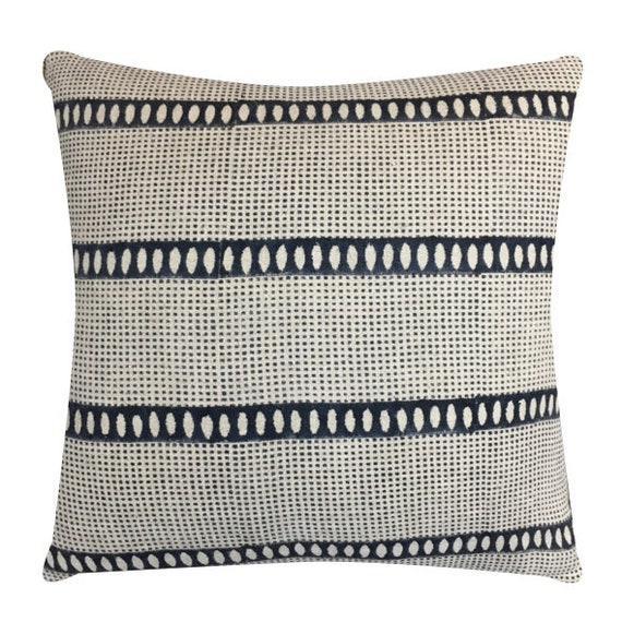 Floral Accent pIllows Bastideaux Laurette in ChalkCement with White Mudcloth  Designer Throw Pillow  Botanical Pillow High End Pillow