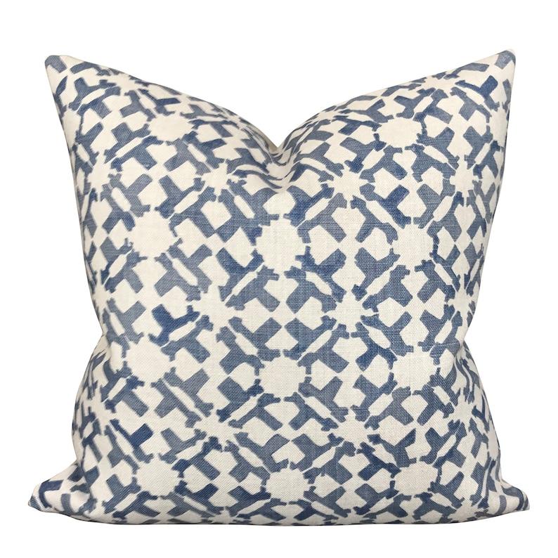 Peter Dunham Designer Pillows // Orcha in Indigo Throw Pillow. #indigoblue #throwpillow #handmadedecor