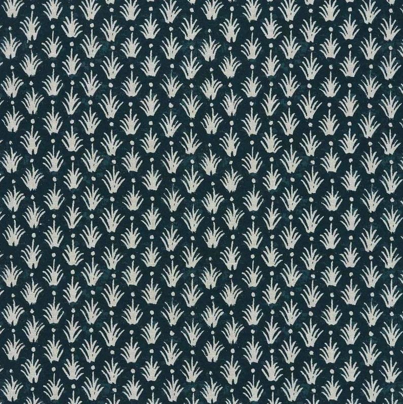 Designer Clay McLaurin Reeds Pillow Cover in Indigo  Indigo Blue Throw Pillow  Trendy Modern Boho Throw Pillows