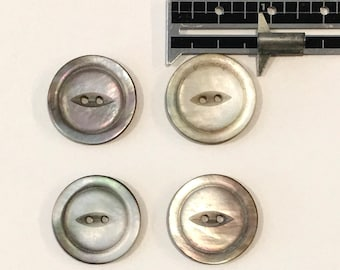 """8 Large Metal Shank Button Light Silver Single Fish Design 1/"""" 26mm Made In Italy"""